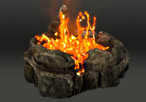 This is a lava simulation I did in Realflow, the rest is done in Maya, Nuke and After Effects - I used the hot'n'cold plugin and tried to achieve a boiling lava look.